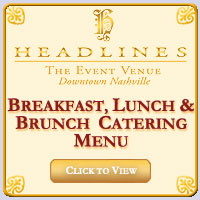 Breakfast, Lunch & Brunch Catering Menu Packages