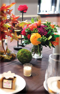 Beautiful table decorations for Entertainment Events